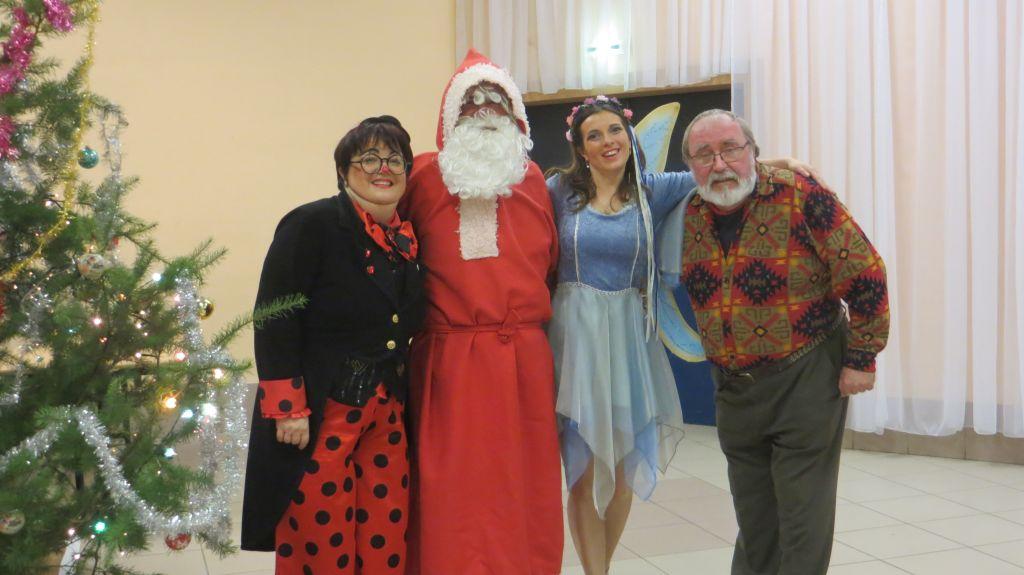 Le père Noël, les actrices et le vice président de l'ALT