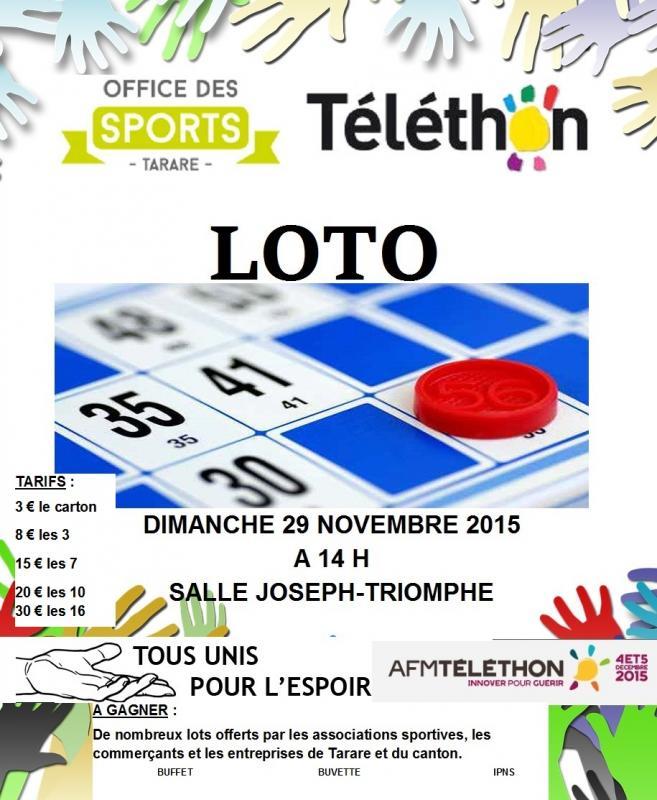 Affiche loto 29 novembre
